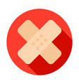 sticking-plaster circle icon vector image