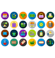 Store round icons set vector image vector image