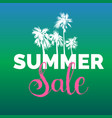 summer sale lettering background season vector image vector image