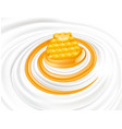 sweet honey flow in milk whipped cream vector image