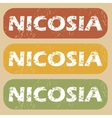 Vintage Nicosia stamp set vector image vector image