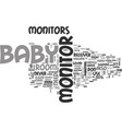 what you need to know about baby monitors text vector image vector image