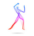 woman dancer indian dancer abstract colored human vector image vector image