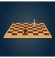 Wood chessboard vector image
