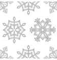 zentangle winter snowflakes seamless pattern vector image