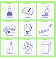 School subjects icons vector image