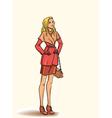 Girl in autumn dress vector image