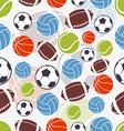 Seamless sports pattern vector image