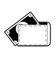 wallet with cash coming out icon image vector image
