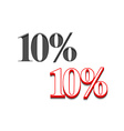 10 discount design vector image vector image