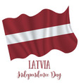 18 november latvia independence day vector image vector image