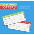 Advertising of the travel agency vector image vector image