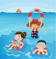 Beach fun vector image vector image