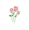 beauty rose flower icon vector image