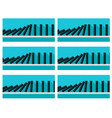 black dominoes animation sprite with blue back vector image vector image