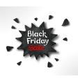 Black Friday lettering and plasticine banner vector image