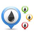 Black Oil Drop Icon vector image vector image
