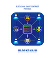 blockchain distributed ledger technology vector image vector image