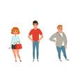 business people standing together entrepreneurs vector image