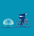 businessman training brain brainstorm vector image
