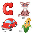 c alphabet vector image