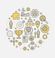 career development circular vector image vector image