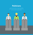 cartoon different nationalities politicians card vector image vector image