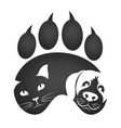 cat and dog symbol vector image vector image
