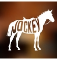 concept racing horse silhouette with text vector image