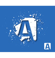 Creative Graphic Alphabet A Design vector image