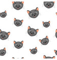 cute face a head of cats colorful seamless vector image