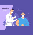 depicting a male doctor vector image