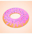 doughnut is sweet food vector image