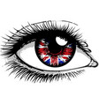 flag of the great britain in beautiful male vector image vector image