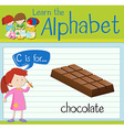 Flashcard alphabet C is for chocolate vector image vector image