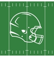 Flat Design of Football Field and Helmet vector image vector image