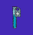flat shading style icon test tube vector image vector image