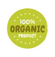 fresh healthy organic vegan food badge vector image vector image