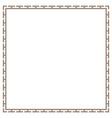 greek frame border vector image vector image