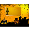 Halloween sign over spooky background vector image vector image