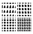 Hand drawn seamless patterns set vector image