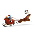 happy santa claus riding a vector image vector image