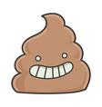 happy smiling poop cartoon character vector image