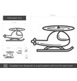 helicopter line icon vector image vector image