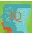 IQ intellectual quotient intelligence vector image