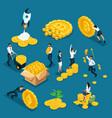 isometrics icons investors speculators with ico vector image