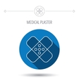 Medical plaster icon Injury fix sign vector image