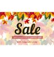 modern design of autumnal sale banner vector image vector image
