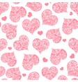 monochrome pink seamless valentine pattern on vector image