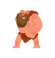 muscular primitive caveman in loincloth stone age vector image